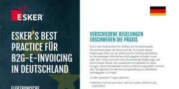 Esker's Best Practice für B2G-E-Invoicing in Deutschland