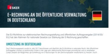 E-Rechnung an die öffentliche Verwaltung in Deutschland