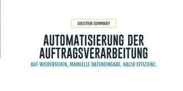 Solution Summary: Automatisierte Auftragsverarbeitung
